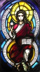 Der Spruch lautet: QUOS GRAVAT IM TERRAM PECCATI MORBIDA PESTIS – AD ME SI FUGITIS MEDICAMEN HABERE POESTIS. (Die gebunden seit auf der Erde durch der Sünde Last und Krankheit, flieht ihr zu mir, findet ihr reiche Medizin = Erlösung). Die Inschrift is